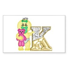 Baby Initials - K Rectangle Decal