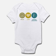 Peace Love Chinese Checkers Infant Bodysuit