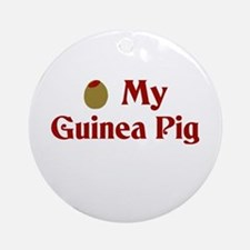 Olive (I Love) My Guinea Pig Ornament (Round)