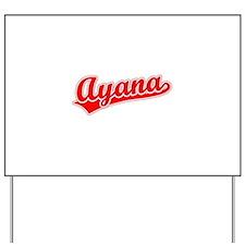 Retro Ayana (Red) Yard Sign