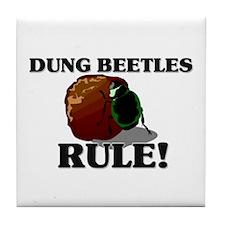 Dung Beetles Rule! Tile Coaster