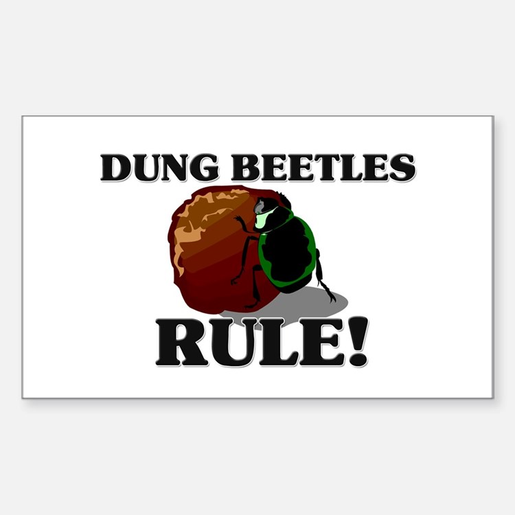 Dung Beetles Rule! Rectangle Decal