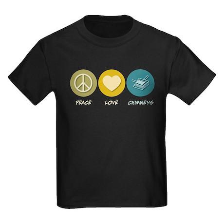 Peace Love Chimneys Kids Dark T-Shirt