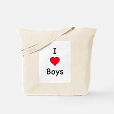 Cute I love boys Tote Bag