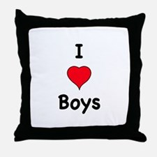 Cute I like girls Throw Pillow