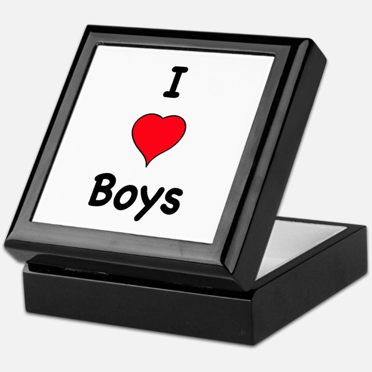 Cute I like boys Keepsake Box