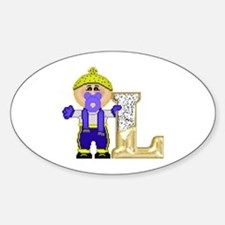 Baby Initials - L Oval Decal