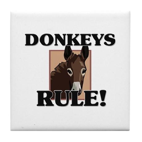 Donkeys Rule! Tile Coaster