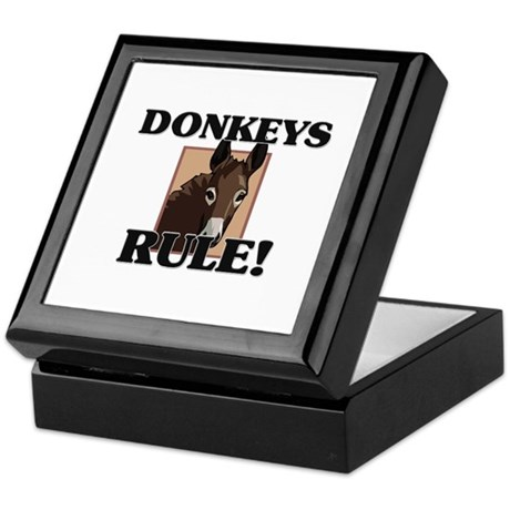 Donkeys Rule! Keepsake Box