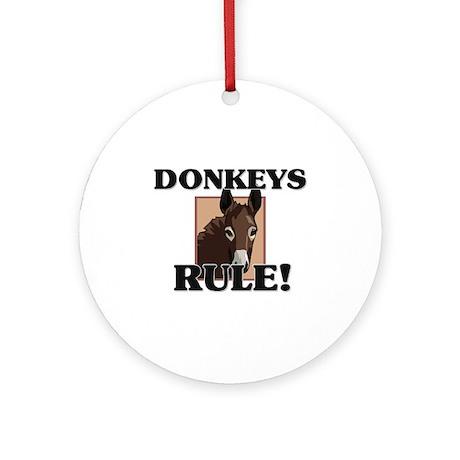 Donkeys Rule! Ornament (Round)