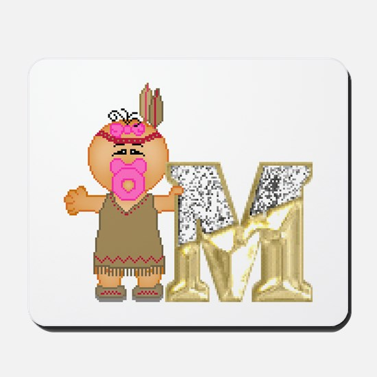 Baby Initials - M Mousepad