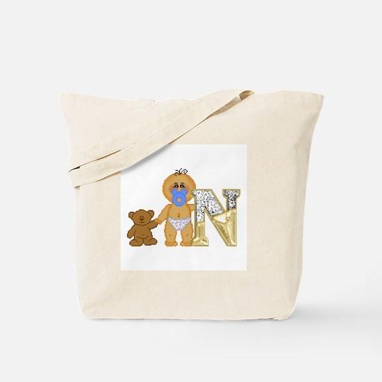 Baby Initials - N Tote Bag