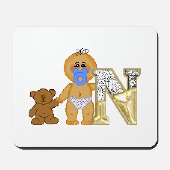 Baby Initials - N Mousepad