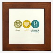 Peace Love Chemical Engineering Framed Tile
