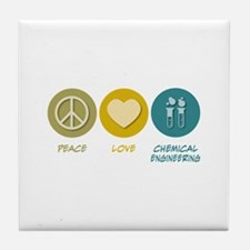 Peace Love Chemical Engineering Tile Coaster