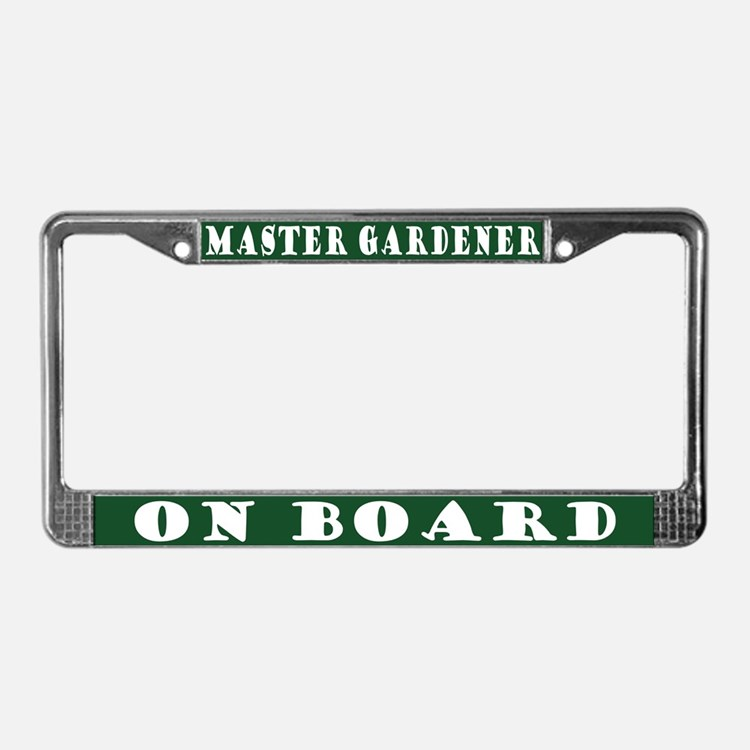 Gardener License Plate Frame