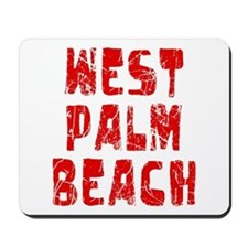 West Palm Be.. Faded (Red) Mousepad