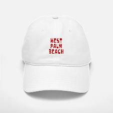 West Palm Be.. Faded (Red) Baseball Baseball Cap