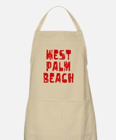 West Palm Be.. Faded (Red) BBQ Apron