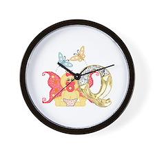 Baby Initials - Q Wall Clock