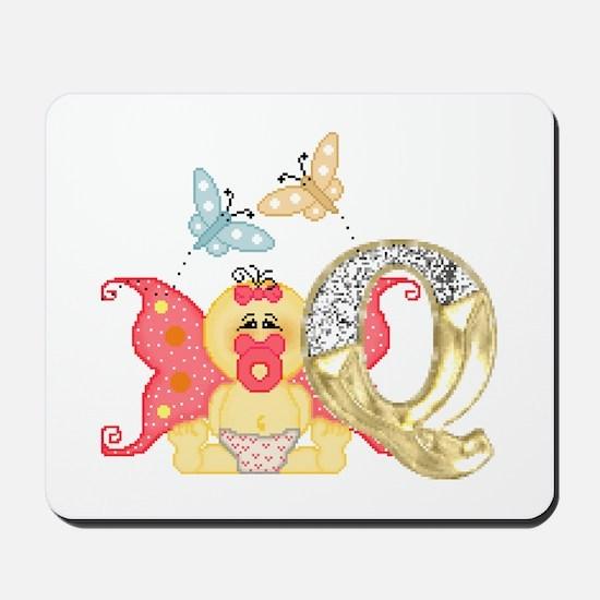 Baby Initials - Q Mousepad