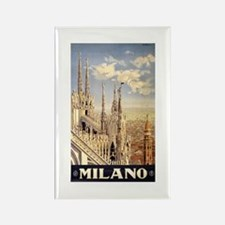 Milano Travel poster Rectangle Magnet