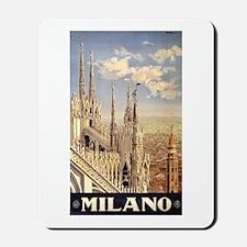 Milano Travel poster Mousepad