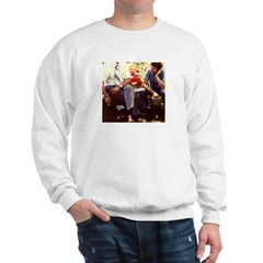 Retro 70's Guys Picnic on Sweatshirt
