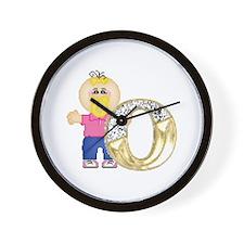 Baby Initials - O Wall Clock