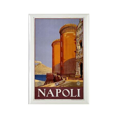 Napoli Travel poster Rectangle Magnet