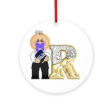 Baby Initials - R Keepsake (Round)
