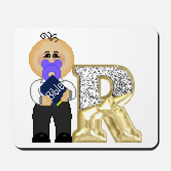Baby Initials - R Mousepad