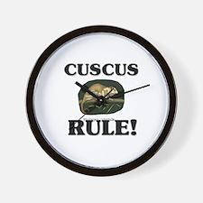 Cuscus Rule! Wall Clock