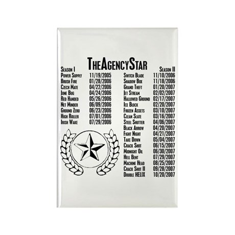 TheAgencyStar Season I & II Mission Magnet
