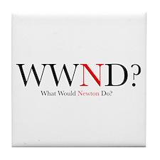 What Would Newton Do? Tile Coaster