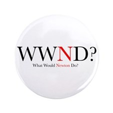 "What Would Newton Do? 3.5"" Button"