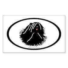 Puli Dog Oval Rectangle Decal