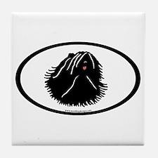 Puli Dog Oval Tile Coaster