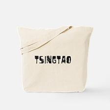Tsingtao Faded (Black) Tote Bag