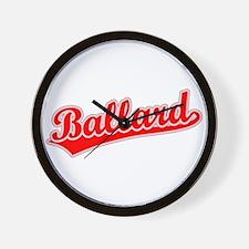 Retro Ballard (Red) Wall Clock