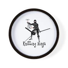 Knitting Ninja Wall Clock