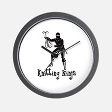 Knitting Ninja Wall Clock
