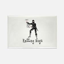 Knitting Ninja Rectangle Magnet