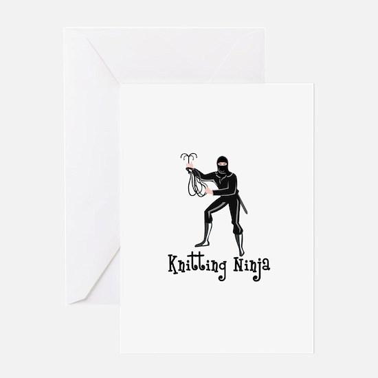 Knitting Ninja Greeting Card