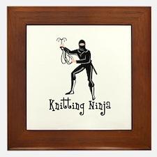 Knitting Ninja Framed Tile