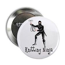 "Knitting Ninja 2.25"" Button"