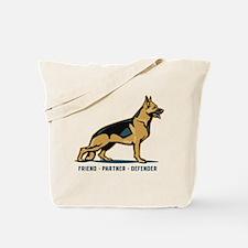 German Shepherd Friend Tote Bag