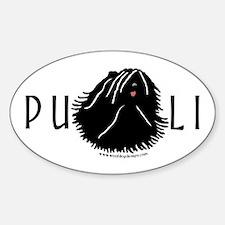 Puli Dog w/ Puli Text Oval Decal
