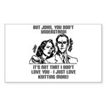 I Just Love Knitting More Rectangle Sticker 10 pk