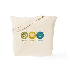 Peace Love Cello Tote Bag